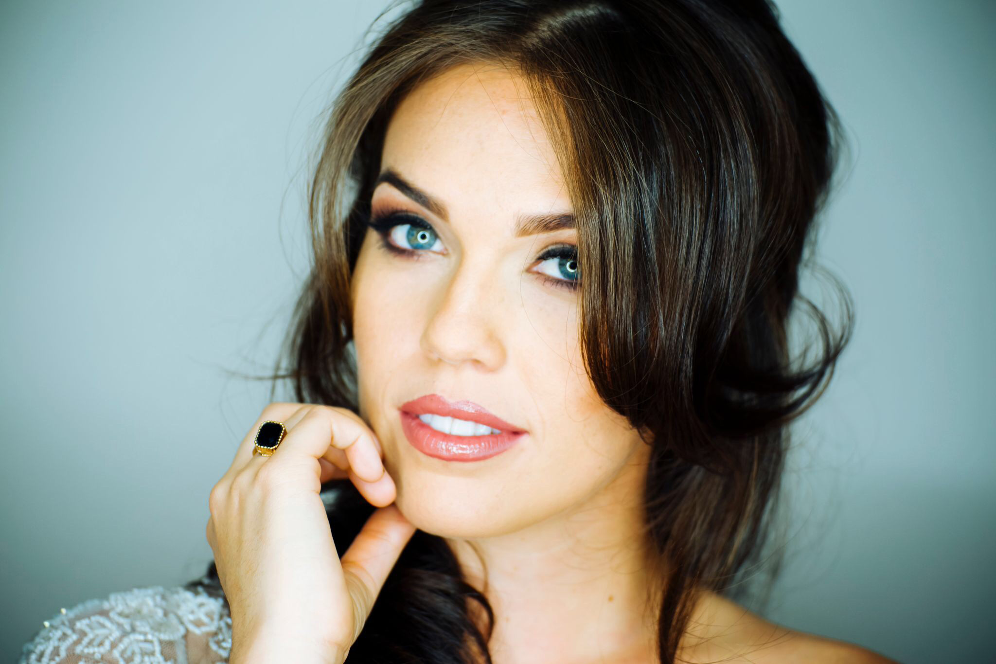 Brilliant Blue Eyes Black Hair Meg Ohare Beauty Hairstyles For Women Draintrainus